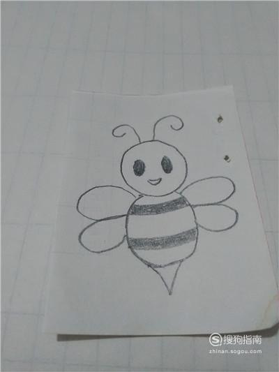 蜜蜂简笔画怎么画,看完你学会了么