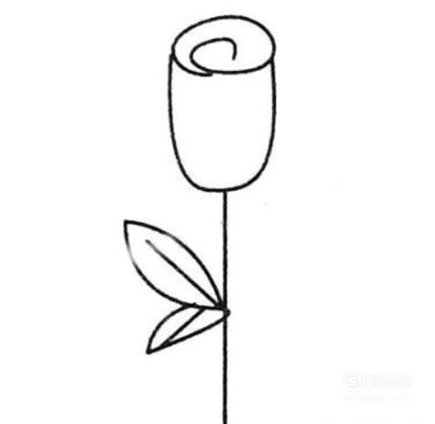 儿童简笔画玫瑰花怎么画