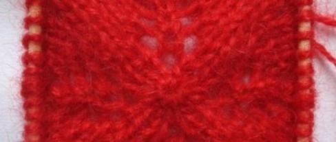 棒针编织树叶花图解教