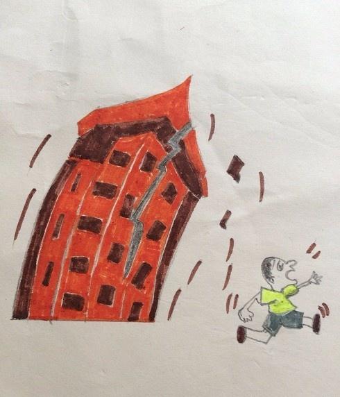 地震绘画怎么画,具体内容