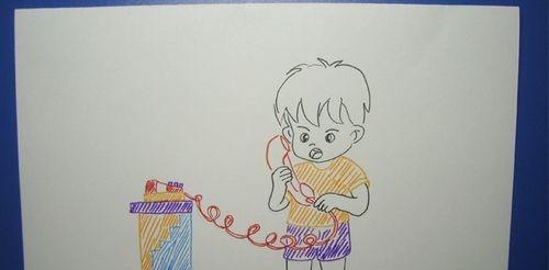 儿童简笔画之打电话的小男孩 照着学就行了