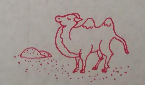 沙漠之舟骆驼简笔画怎