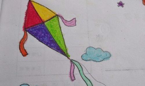 适合宝宝的简笔画亲子手工简笔画风筝的画法 具体内容