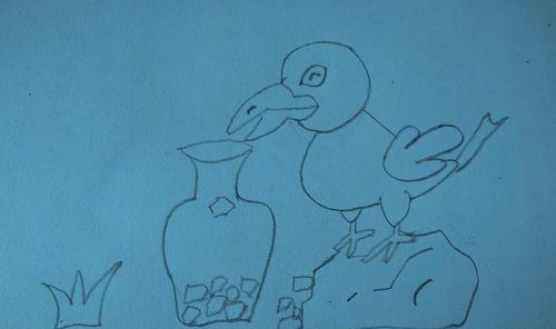 如何画乌鸦喝水的简笔画?,来看看吧