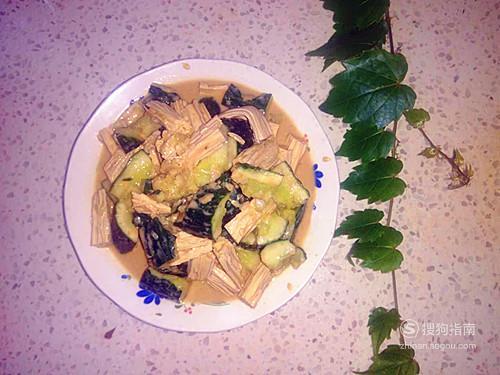 家常凉菜——黄瓜拌腐竹 值得一看