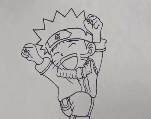 如何画火影忍者动漫中的鸣人卡通人物简笔画? 看完你就知道了
