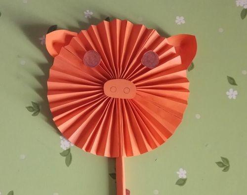 智力手工制作 可爱扇子的折纸步骤图解 看完你就知道了