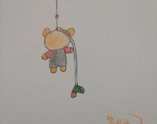 简笔画:小熊挂件画法 来学习吧