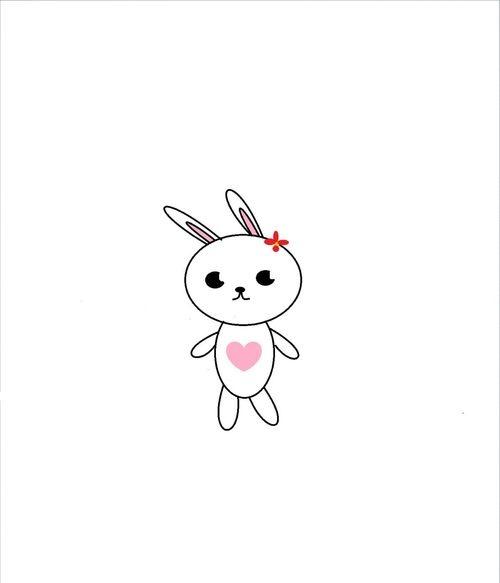 超萌小兔子的简单画法 看完你就知道了