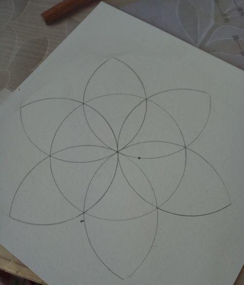 如何用圆规画一朵花,值得收藏
