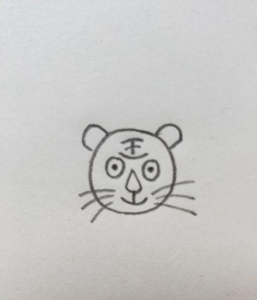 老虎的简笔画教程,需要技巧