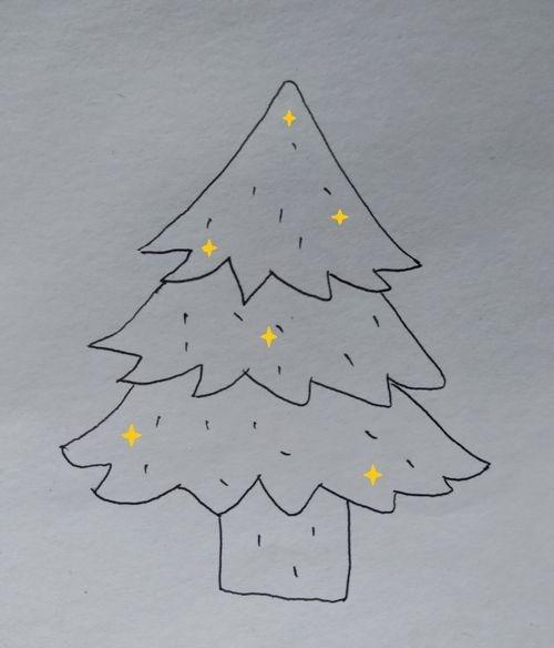 简单好看圣诞树的画法,看完就明白了