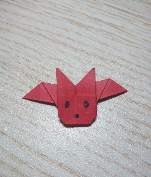 蝙蝠折纸教程,原来是