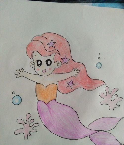 如何画简笔画小美人鱼 看完你就知道了