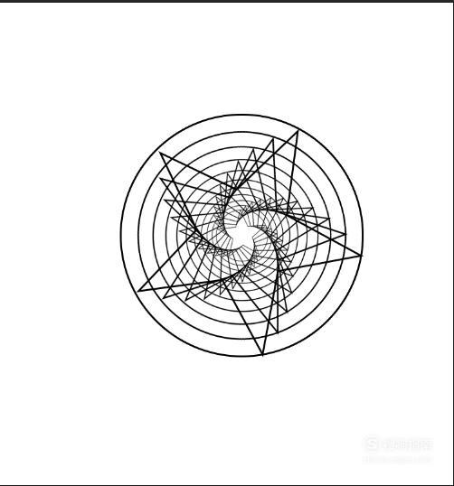 用photoshop制作圆和五角星的变幻线,来看看吧
