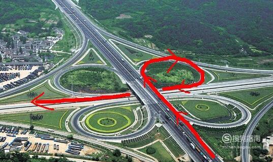 驾驶机动车怎样通过立交桥左转弯 来看看吧