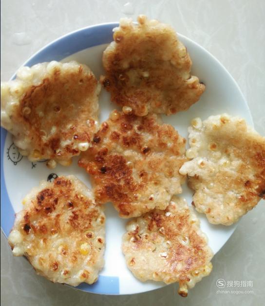 嫩玉米糯米饼的做法,来学习吧