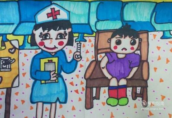 防治新型冠状病毒儿童画怎么画?