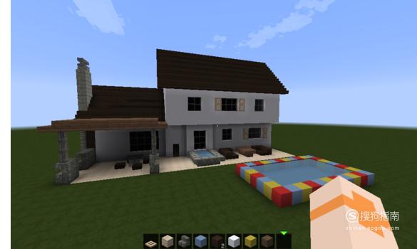 我的世界生存两层简易小别墅建造图文教程