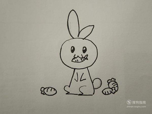 简笔画之吃胡萝卜的小兔子 划重点了