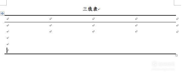 制作规范格式的三线表,原来是这样的