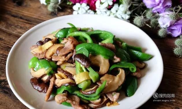 青椒香菇炒肉的家常做法,划重点了