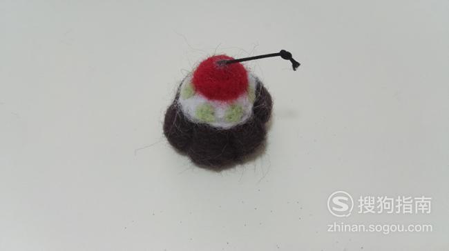 羊毛毡樱桃蛋糕制作方法 看完就明白