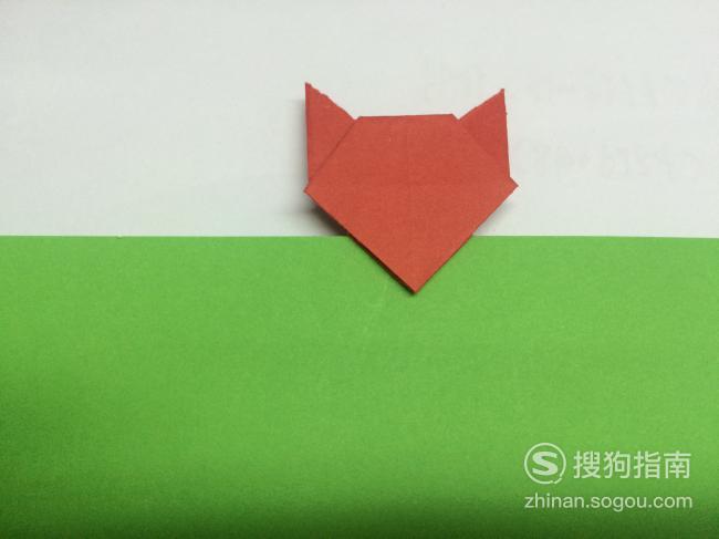 用纸折狐狸书签,详细