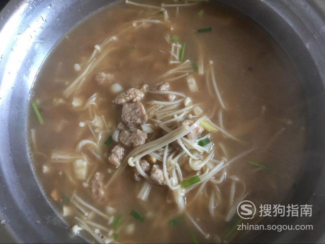 教你金针菇肉汤的做法