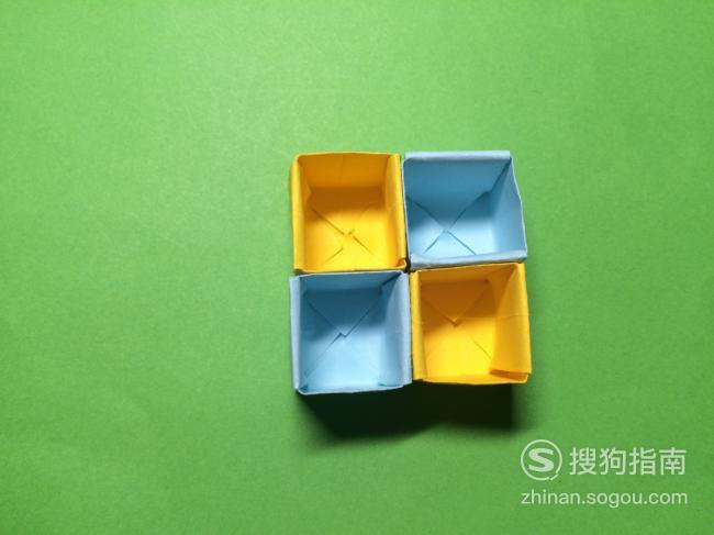 十字手工收纳盒的折法,来研究下吧