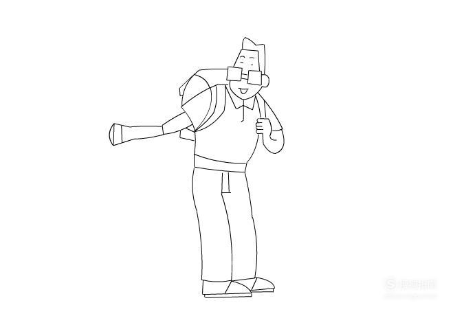 简笔画:如何使用Flash绘制小头爸爸 看完你就知道了