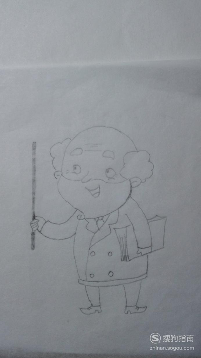 如何画教授的简笔画 具体内容