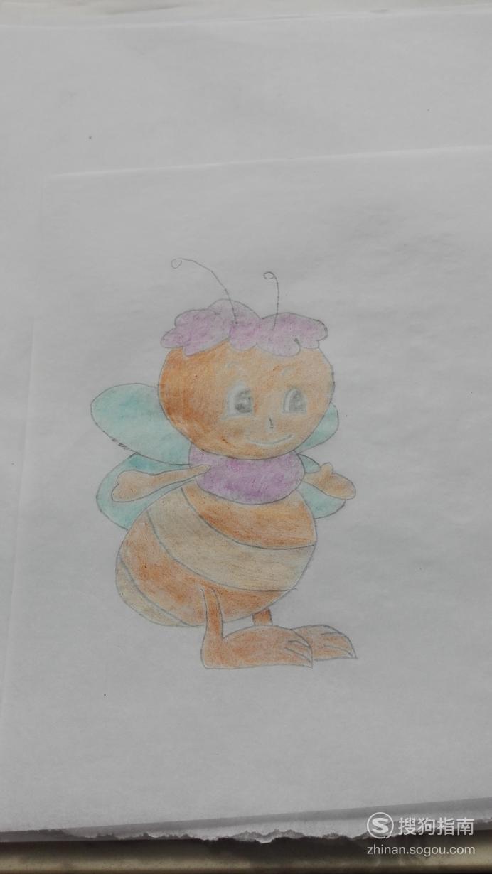 如何画蜜蜂的简笔画 照着学就行了