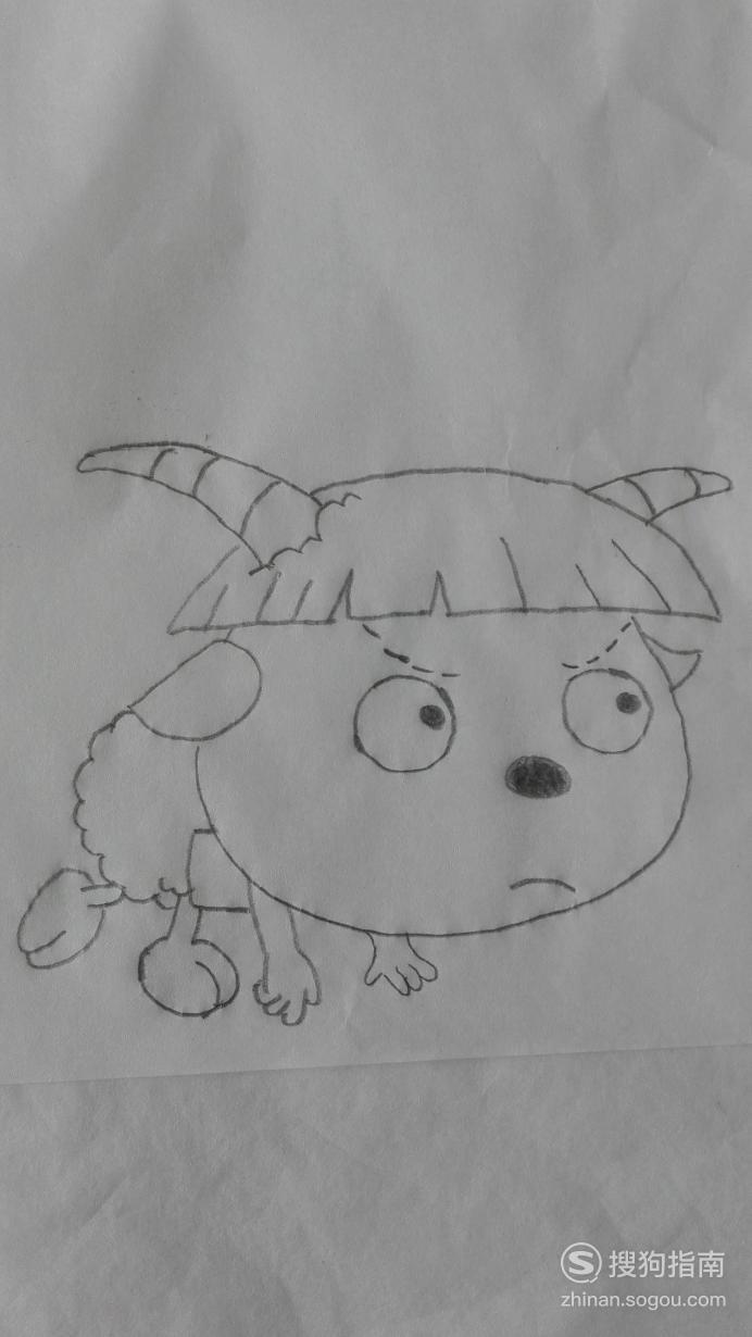 如何画跑步比赛的绵羊的简笔画 详细始末