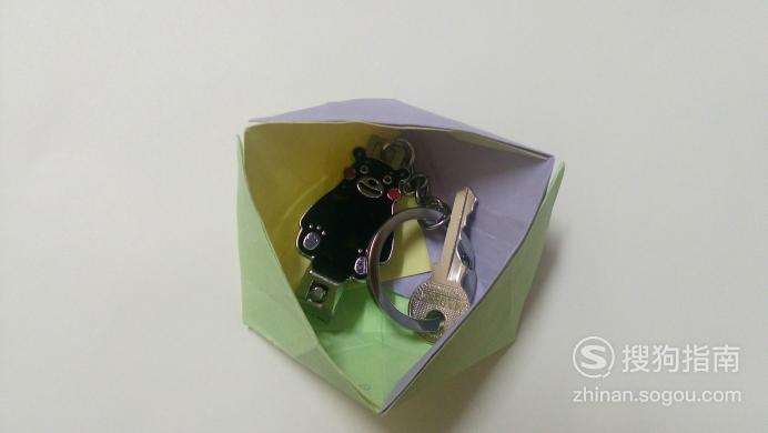 手工之三角形收纳盒的折法,看完你就知道了
