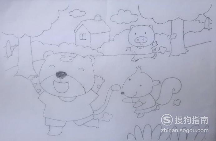 如何画动物们跑步比赛的简笔画,你值得一看的技巧