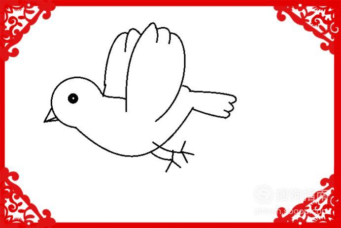 简笔画自由飞翔的小鸟画法 来研究下吧