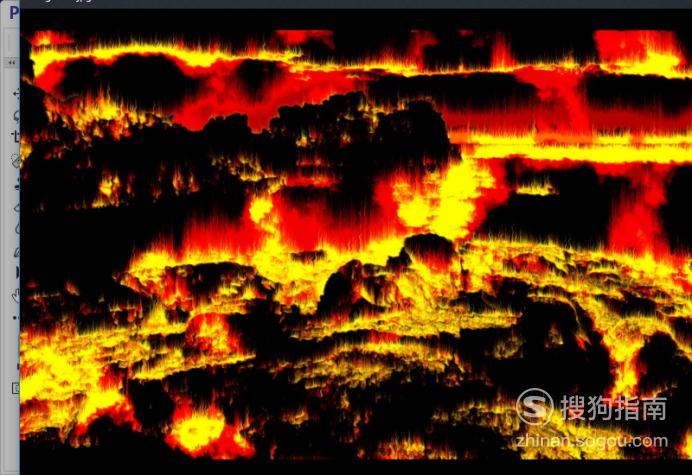 如何制作图片火海燃烧