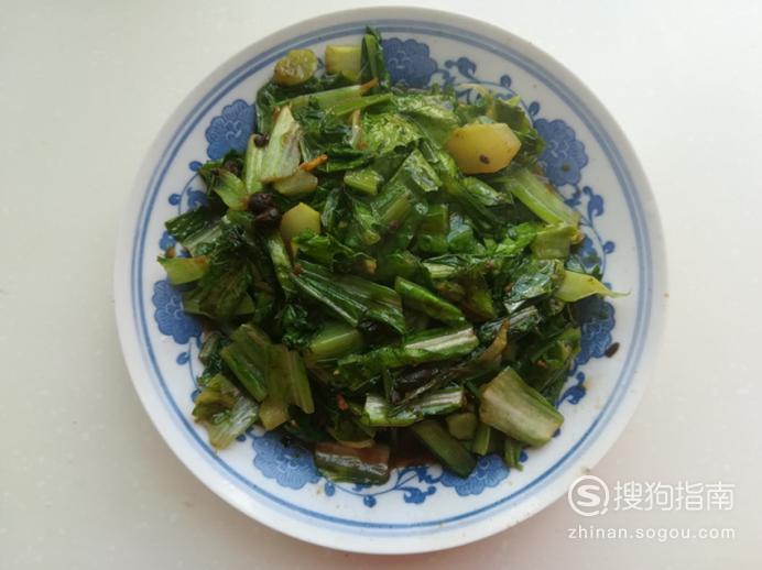 酱香豆豉油麦菜的做法