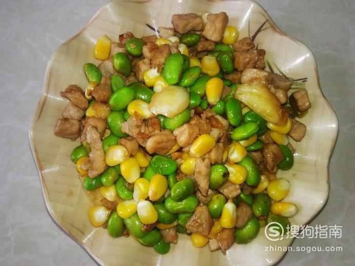好吃的青豆玉米瘦肉丁的做法 需要技巧