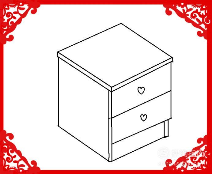 床头柜怎么画——简笔画,看完你就知道了