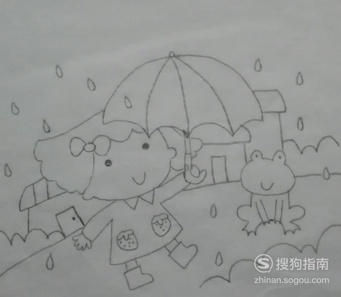 如何画打伞的小女孩的简笔画 专家详解