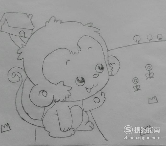 如何画调皮的小猴子的简笔画,这些经验不可多得