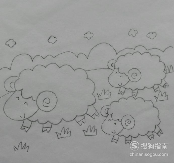 如何画小羊的午餐的简笔画 你值得一看的技巧