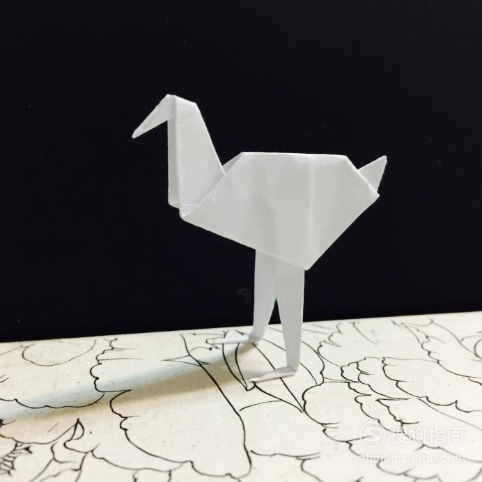 【折纸图解】鸵鸟怎么折 来充电吧