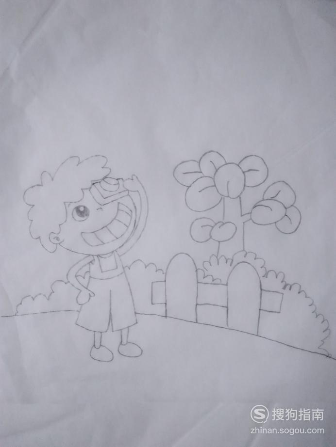 简笔画拍照男生的画法,看完就明白了