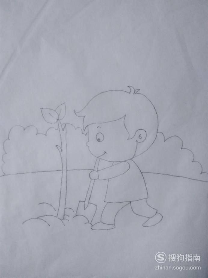 简笔画种树男生的画法,详细始末