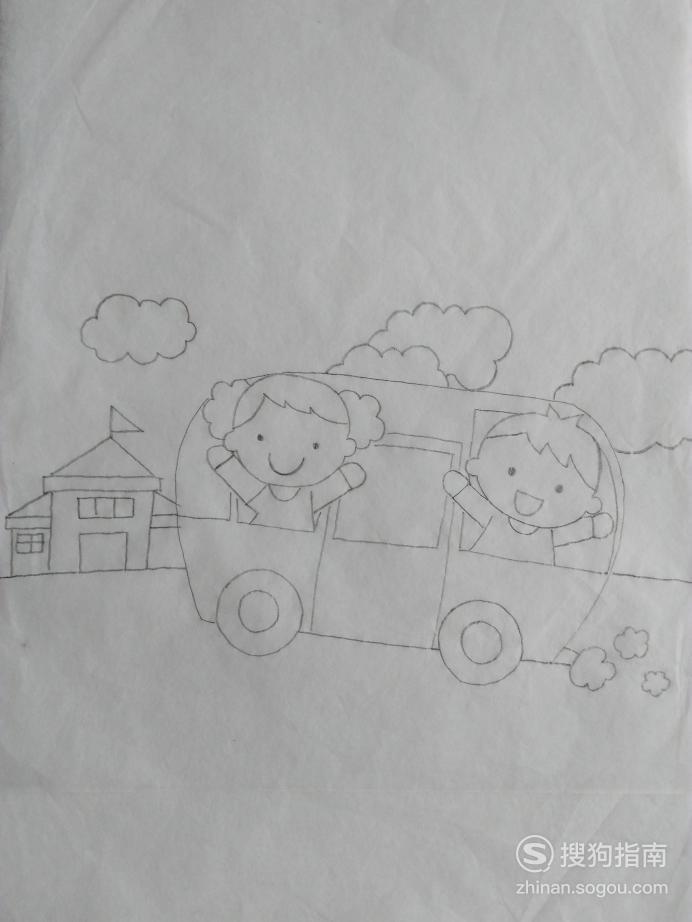 如何画校车的简笔画 划重点了