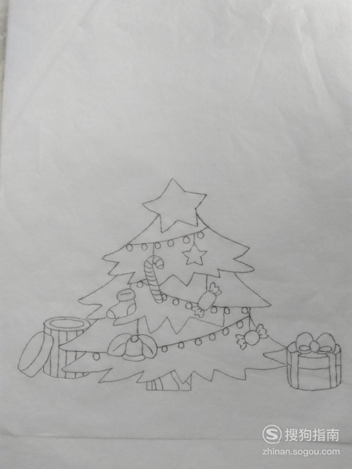 简笔画圣诞树的画法,