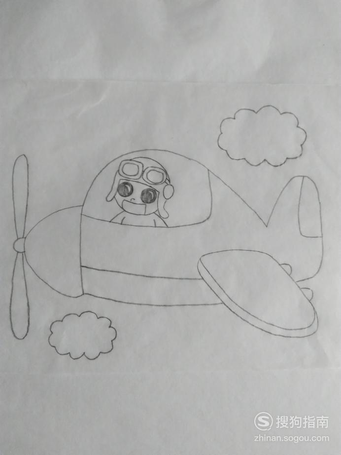 简笔画小飞行员的画法